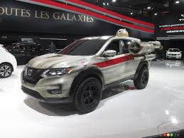 nissan rogue star wars nissan keeps star wars fun going at montreal auto show car news