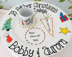 santa plate etsy