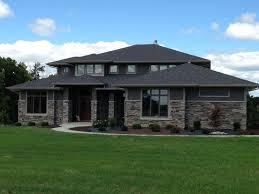 prairie style house stoned exterior home bucks creek laytite j n color