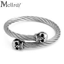 titanium steel bracelet images Mcllroy trendy hot men 39 s bangles brand northskull 316l titanium jpg