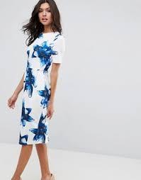 bodycon dresses shop bandeau dresses asos