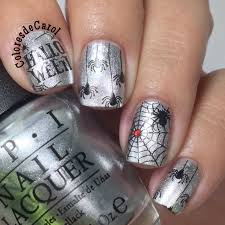colores de carol silver halloween nail art i love pinterest