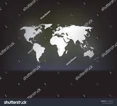 Dark Sky Map Stylish White World Map On Dark Stock Vector 114299560 Shutterstock