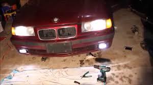 bmw e36 fog light bracket installing fog lights on the e36 bmw youtube