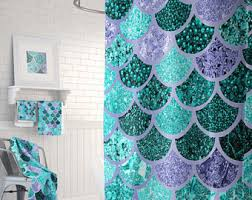 mermaid themed bathroom mermaid bathroom etsy