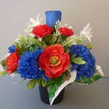 blue carnations pot for memorial vase with artificial blue carnations