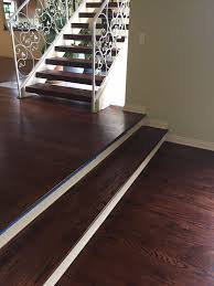 Laminate Flooring Stairs Custom Stair Treads Refinished On Site Cooper Floors