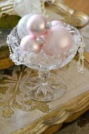 Pink And Pearl Christmas Decorations by Jennelise Tis The Season Shabby Chic Christmas Pinterest