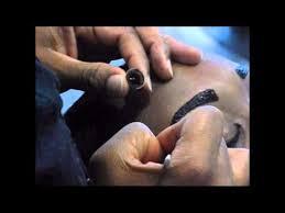 temporary eyebrow tattoo brow coloring tutorial by kobe ellis