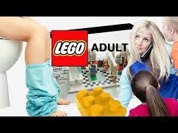adult legos lego adult mom never pees alone funny playsets for grownups