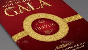 crimson gold plus black anniversary program template inspiks market