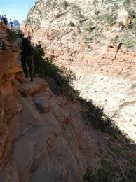 narrow picture ledge narrow ledge but chain to hold on to picture of angel s landing