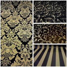 Black And Gold Curtain Fabric Pretty Black And Gold Fabric Contemporary The Best Bathroom