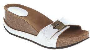 womens scholl musal white leather sandals ebay