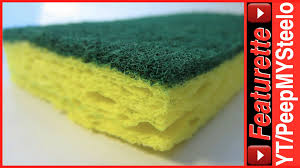 3m scotch brite sponges in 3 pack pads for kitchen scrubbing