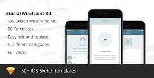 star ui wireframe sketch kit v1 by myfw themeforest