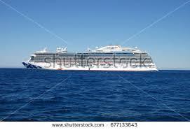 beautiful cruise ship sea sun stock photo 142804276