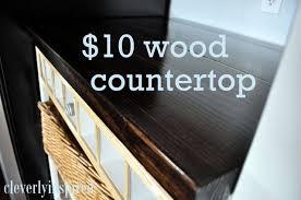 cheap bathroom countertop ideas diy wood countertop