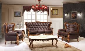 Decorate Living Room Black Leather Furniture Victorian Living Room Design With Dark Brown Leather Sofa And
