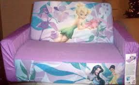 tinkerbell flip open sofa disney fairies tinker bell pull out slumber bed foam light