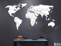 World Map Countries Wall Decal K295 U2013 Stampmagick Wall Decals