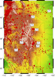 United States Fault Lines Map by Earthquake Hazard Posed By The Rio Grande Rift