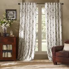 kitchen curtains bed bath and beyond curtain panels gray pattern