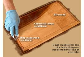 can you stain pine cabinets avoid or fix blotchy stain