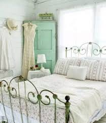 nightstand shabby chic bedroom with metal and corner armoire