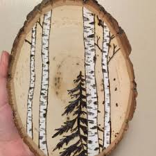 wooden pine tree wall shop pine wood burning on wanelo
