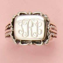 Monogrammed Silver Ring So Cute Https Www Etsy Com Listing 177694847 Sterling Silver