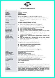 Resume Examples For Waitress by To Be Waitress Is To Be Easy Going And Friendly In Convincing The