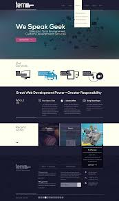 responsive one page website design by moz3r 38745 best