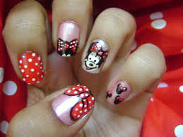 minnie mouse nail art gallery