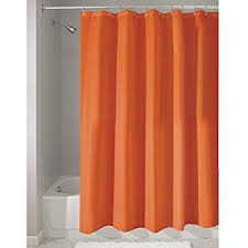 Orange Shower Curtains Interdesign Mildew Free Water Repellent Fabric Shower
