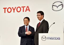 mazda japanese to english toyota mazda to build 1 6 billion u s plant work together on evs