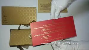 Hindu Invitation Cards W 4520 Rust Gold Shimmer Paper Wedding Cards Indian Hindu