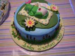 frog baby shower frog theme baby shower cake baby frog sleeping with pacifier