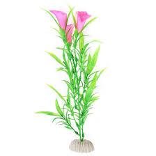 2017 artificial plastic petunia grass tank aquarium ornament no