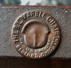 Marble Chair Co Bl Marble Chair Co Metal Tag Without Patent Info My Antique Oak