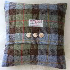 macleod harris tweed cushion by the tweed workshop at mansefield