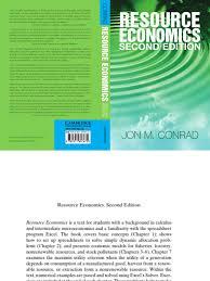 resource economics conrad jon present value discounting