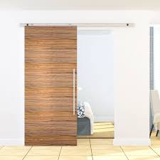 Closet Set by Voilamart 1 86m Steel Silver Sliding Barn Door Hardware No Joint
