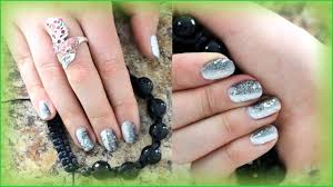 cute glitter gradient nail design for short nails for teenagers