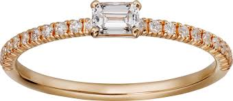 cartier rings images Crb4216700 etincelle de cartier ring pink gold diamonds cartier png