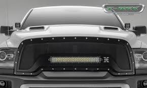 Black Led Light Bar by T Rex Ram Rebel Torch Series Main Grille Replacement 1 20