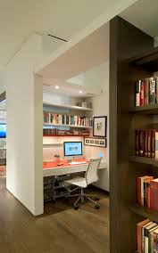 Built In Wall Shelves by Apartments Cute Small White Home Office Design With Built In Desk