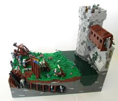 siege lego brickbuilt lego moc siege on bannockburn