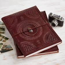 handmade photo album handmade indra xl stoned leather photo album by paper high