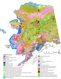 map for vegetation map for northern western and interior alaska alaska